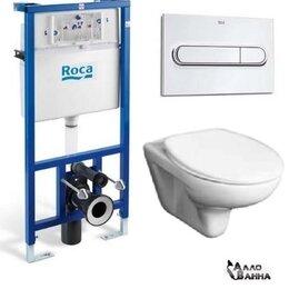 Унитазы, писсуары, биде - Комплект унитаз подвесной Roca Mateo с микролифтом + Инсталляция Roca DUPLO WC, 0