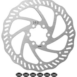 Защита и экипировка - Ротор велосипедный RT553, для дискового тормоза, 160 мм, серебристый, 510202, 0