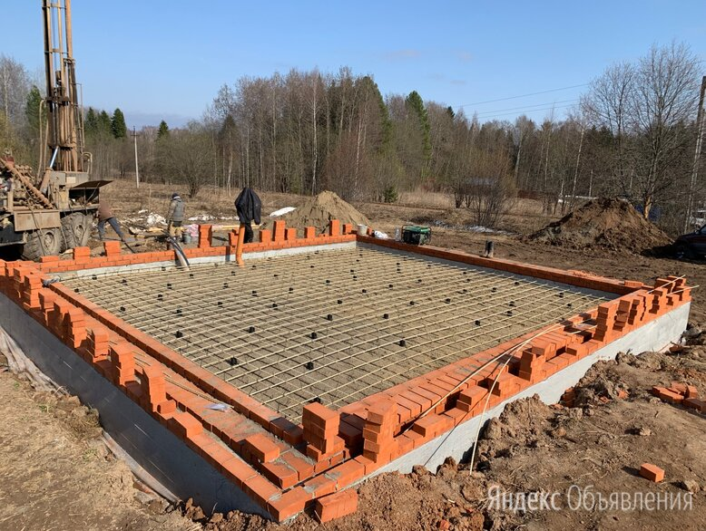 Фундамент, бетонные работы, ленточный фундамент, сваи по цене 3500₽ - Железобетонные изделия, фото 0
