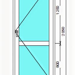 Входные двери - Дверь из оконного профиля белая, 0