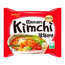 Продукты - Лапша быстрого приготовления Kimchi Ramen со вкусом кимчи Samyang, пачка 120 г, 0