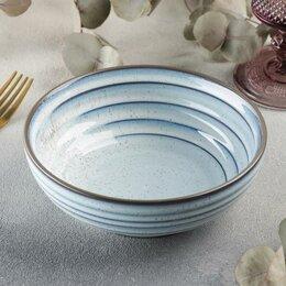 Блюда, салатники и соусники - Салатник Magistro Garland, d16 см, цвет белый, синий, 0