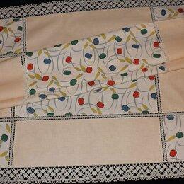 Скатерти и салфетки - Скатерть цветной лён, коклюшечное кружево, 115х145, 0
