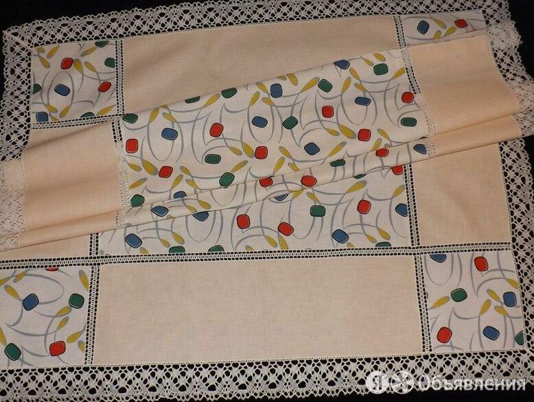 Скатерть цветной лён, коклюшечное кружево, 115х145 по цене 950₽ - Скатерти и салфетки, фото 0