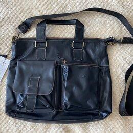 Сумки - Новая кожаная мужская сумка, 0