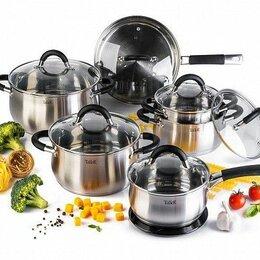 Наборы посуды для готовки - Набор посуды Taller Шелборн TR-1047 13 пр. серебристый, 0