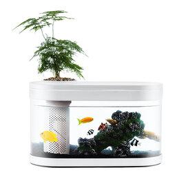 Защита и экипировка - Xiaomi Акваферма Xiaomi Geometry Fish Tank Aquaponics Ecosystem White, 0