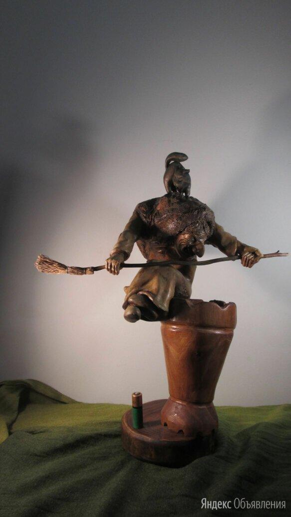 Статуетка из дерева Баба Яга по цене 8500₽ - Статуэтки и фигурки, фото 0