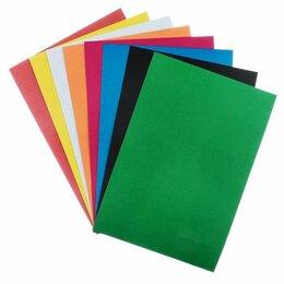 Канцелярские принадлежности - Картон цветной, не мелованный, А4, 8 листов, 8 цветов, «Графика», 0