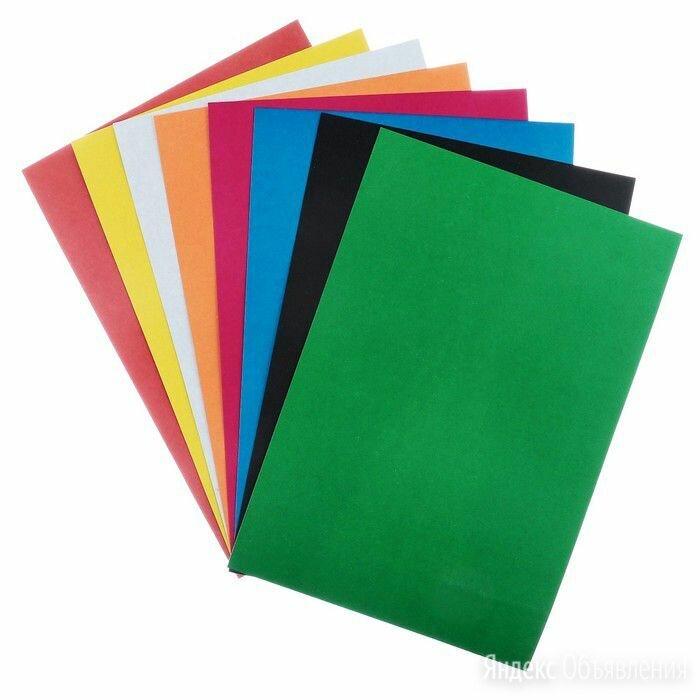 Картон цветной, не мелованный, А4, 8 листов, 8 цветов, «Графика» по цене 60₽ - Канцелярские принадлежности, фото 0