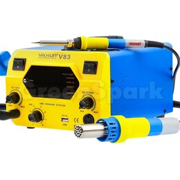 Электрические паяльники - Термовоздушная паяльная станция YA XUN V83, 0