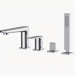 Краны для воды - Смеситель для ванны BelBagno Carin хром CAR-VIM4-CRM, 0