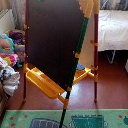 Развивающие игрушки - Мольберт детский,магнитный на ножках., 0