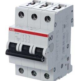 Прочие комплектующие - Выключатель автоматический модульный 3п D 16А 6кА S203 D16 ABB 2CDS25300..., 0