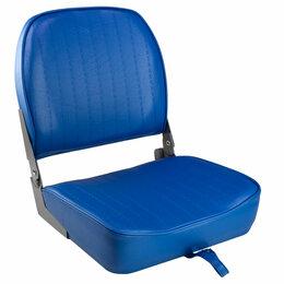 Походная мебель - Кресло складное мягкое ECONOMY с низкой спинкой, цвет синий, 0