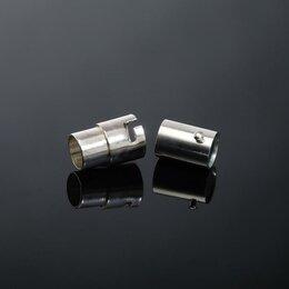 Защелки и завертки - Замок-концевик магнитный с фиксатором 17*8мм (внутр. 6мм), цвет серебро, 0