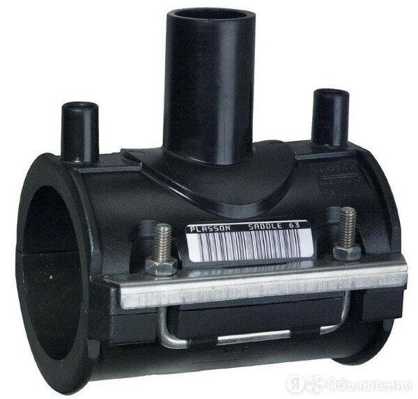Седелочный отвод 75х32 электросварной полиэтиленовый ПЭ 100 SDR 11 по цене 1757₽ - Водопроводные трубы и фитинги, фото 0