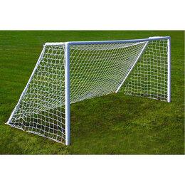 Аксессуары и принадлежности - Сетка футбольная белая, 7,5 х 2,5 м, нить 2 мм, комплект 2 сетки, 0