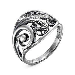 """Свадебные украшения - Кольцо """"Цветочная веточка"""", посеребрение с оксидированием, 18 размер, 0"""