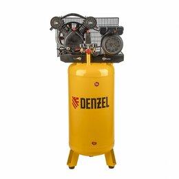 Аксессуары и запчасти - Denzel Компрессор DRV2200/100V, масляный ременный, с вертикальным ресивером, ..., 0