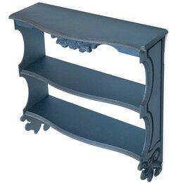 """Полки - Полка навесная """"Прованс"""", 3 полки, синяя, 49×49×13 см, 0"""