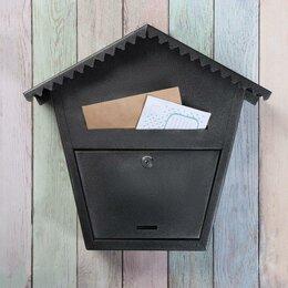 Почтовые ящики - Ящик почтовый с замком, вертикальный, 'Варшава 2', чёрный муар, 0