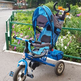 Трехколесные велосипеды - Велосипед трехколесный teach-team синий, 0