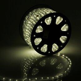 Светодиодные ленты - LED шнур 11 мм, круглый, 100 м, фиксинг, 2W-LED/м-24-220V в компл. набор д/по..., 0