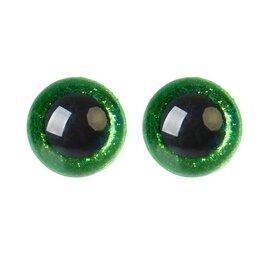 Аксессуары и запчасти - Глаза винтовые с заглушками, «Блёстки» набор 24 шт, размер 1 шт: 2 см, цвет з..., 0