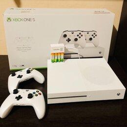 Игровые приставки - Microsoft Xbox One S 1 ТБ + 2 джойстика, 0