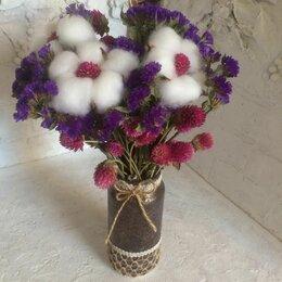 Цветы, букеты, композиции - Букет из сухоцветов в вазе ручной работы, 0
