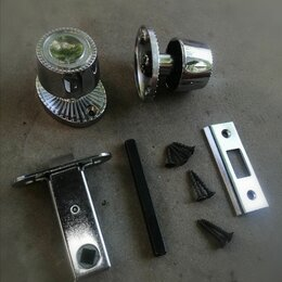 Ручки дверные - Дверная ручка никелированная, комплект. , 0
