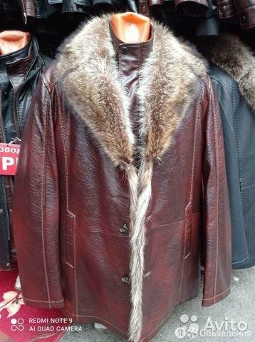 Куртка кожаная мужская зимняя по цене 5500₽ - Костюмы, фото 0