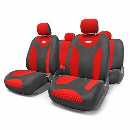 Кейсы и чехлы - Чехлы MATRIX, форм. велюр (11предм), карман, 3 молнии,  черный/красный, размер M, 0