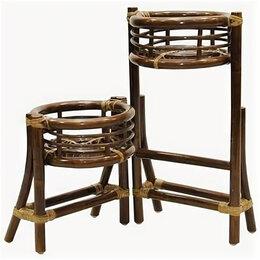 Плетеная мебель - Мебель ротанговая Цветочница 15/25 темно-коричневый, 0
