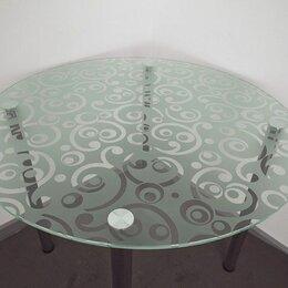 Столы и столики - Стол стеклянный круглый В-1 d=900 (рис.9 хром), 0