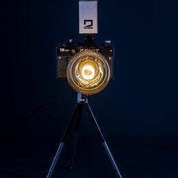 Другое - Винтажный настольный светильник из ретро фотоаппарата Зенит, 0