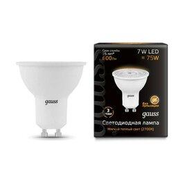 Лампочки - Лампа светодиодная CL MR16 7Вт GU10 2700К 600Лм 50х54мм Gauss, 0
