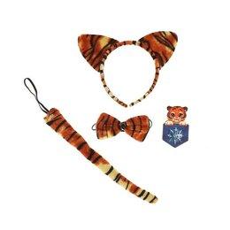 Карнавальные и театральные костюмы - Карнавальный набор «Тигрёнок» (термопринт+ ушки+бабочка+хвостик), 0