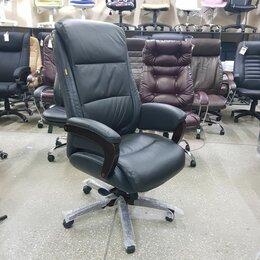 Компьютерные кресла - Кресло руководителя натуральная кожа, 0