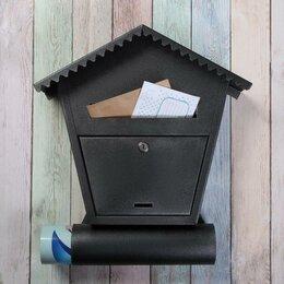 Почтовые ящики - Ящик почтовый с замком, вертикальный, 'Варшава', чёрный муар, 0