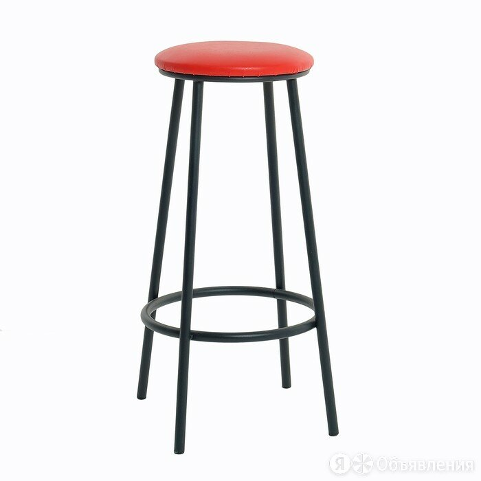 Табурет барный 'Высокий', Черный/красный по цене 1974₽ - Стулья, табуретки, фото 0