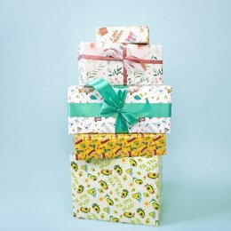 Подарочная упаковка - Упаковочная бумага в ассортименте, 0