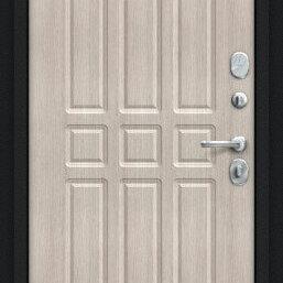 Входные двери - Дверь входная Мило 104.52 NEW Букле черное/Cappuccino Veralinga, 0