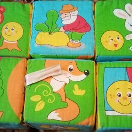 Развивающие игрушки - Мякиши кубики мягкие русские сказки, 0