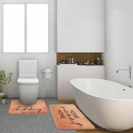 Дизайн, изготовление и реставрация товаров - Коврик для ванной  двойной Home 800*500 500*400 велюр 5399382, 0