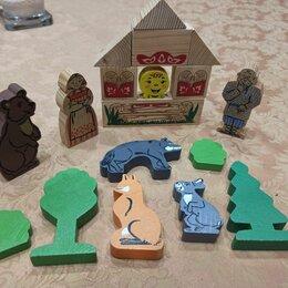 Игровые наборы и фигурки - Деревянные фигурки из сказки Колобок, 0