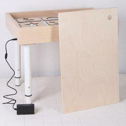 Рисование - Стол для рисования песком с цветной подсветкой 40*60 см и крышкой + гребень и..., 0