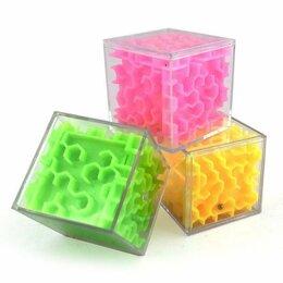 "Головоломки - Игра-головоломка кубик ""3D лабиринт"", 5.5 см, 0"