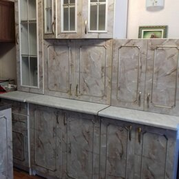 Мебель для кухни - Советский кухонный гарнитур мраморного цвета, 0
